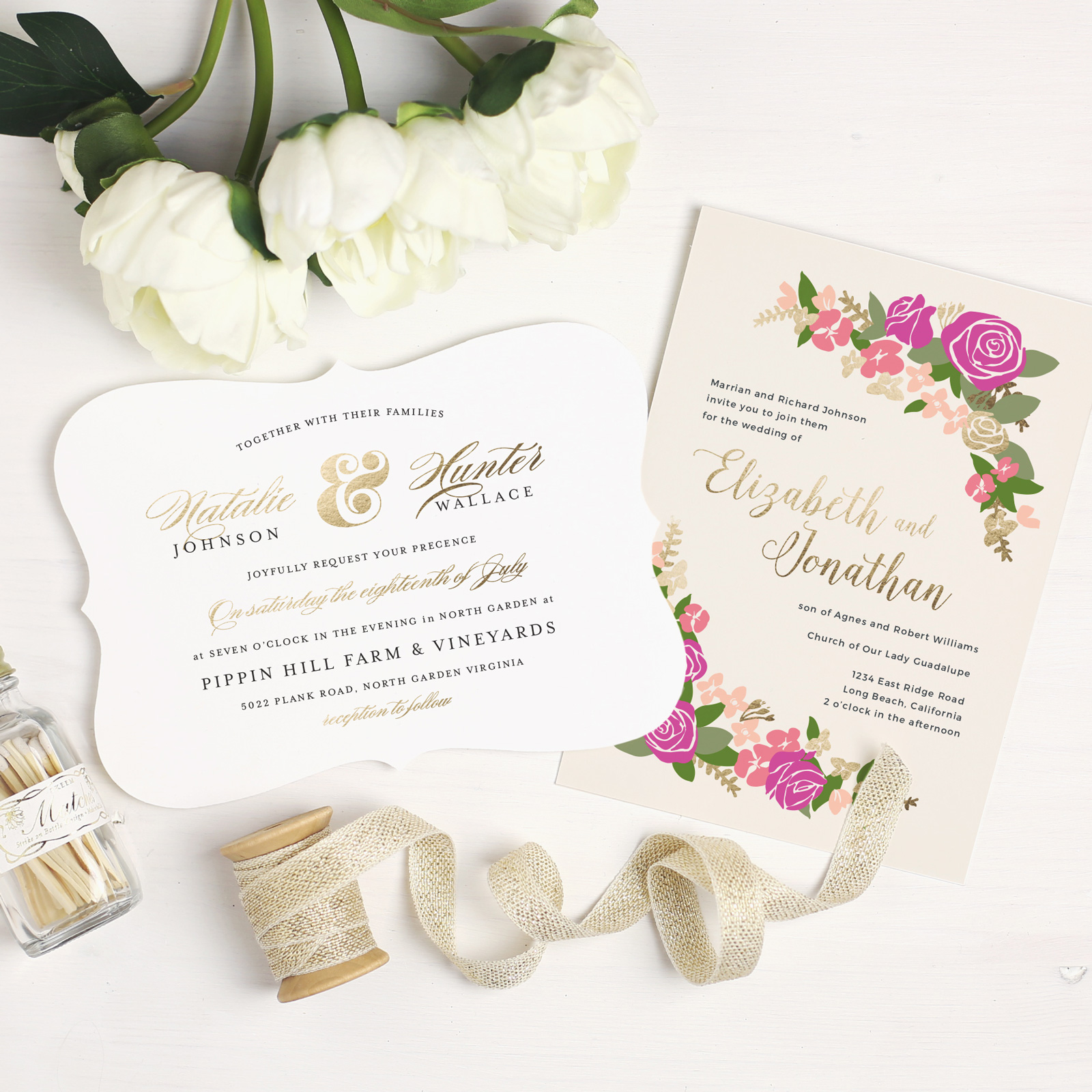 Trendy Wedding Invitation Ideas with Basic Invite - BridalPulse