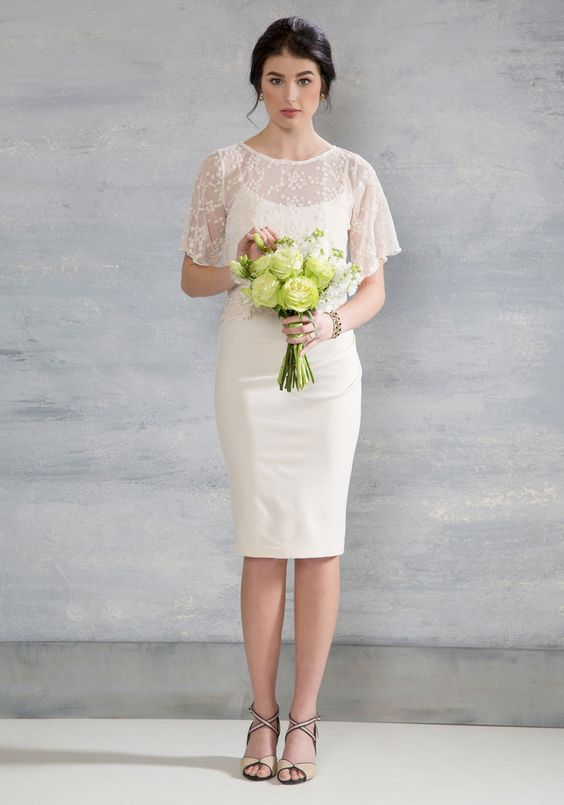 chic civil ceremony dresses bridalpulse