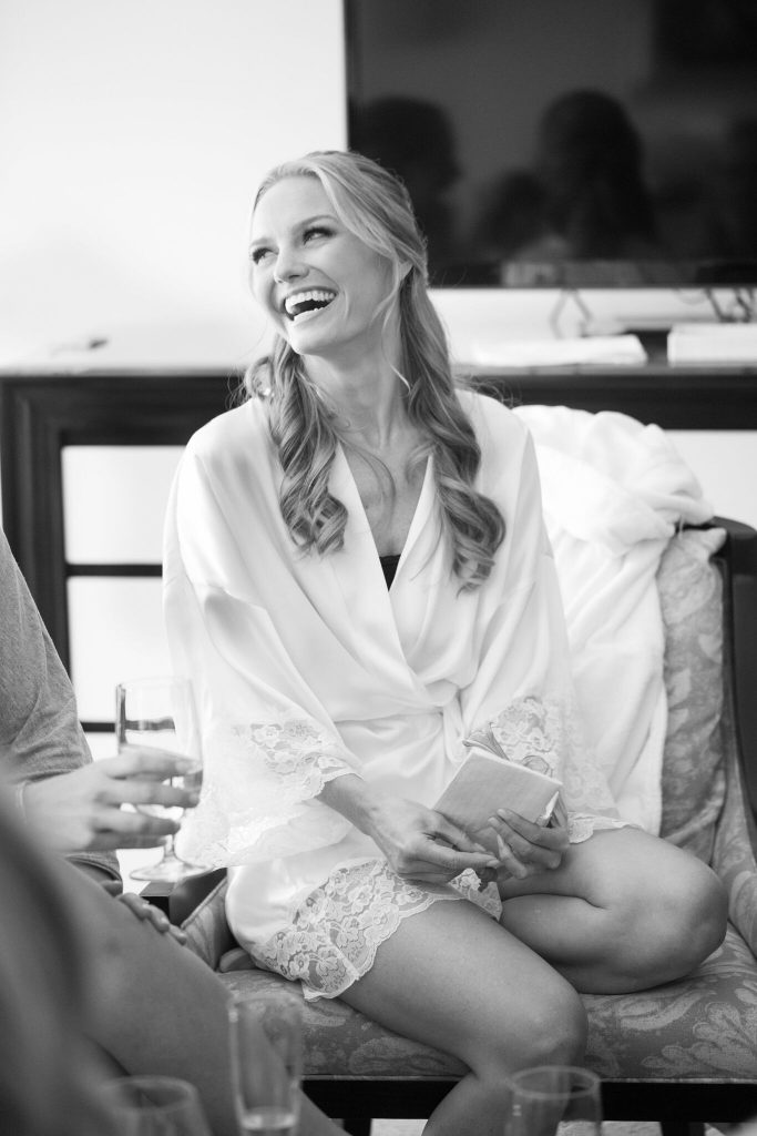 wedding planning tips and inspiration: bride getting ready for her nyc wedding