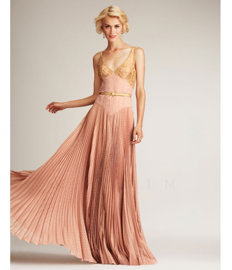 Gold dresses for wedding guests
