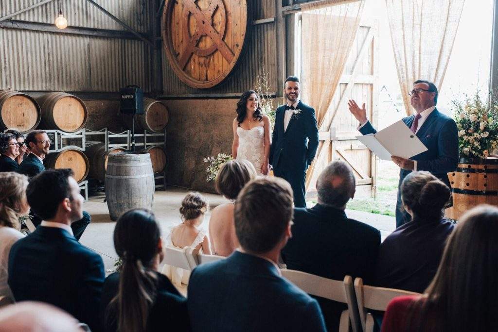 A Charming Rustic Wedding With a Countryside Backdrop
