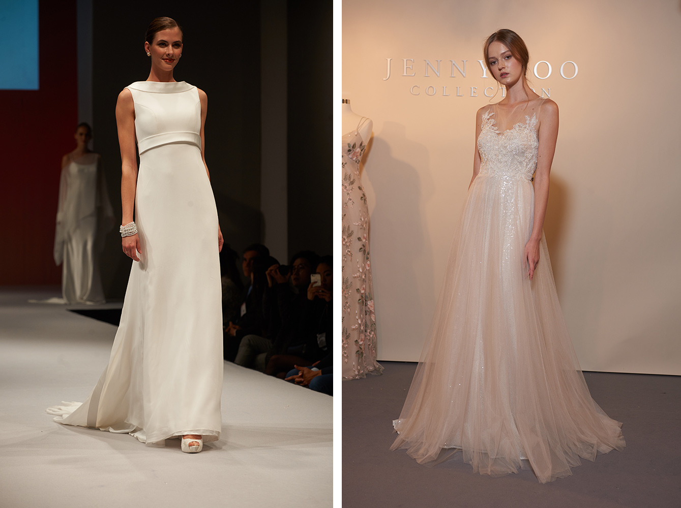Spring Wedding Dress Trend Minimal Glitter