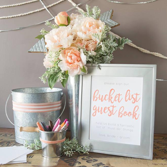 DIY | Bucket List Guest Book - BridalPulse