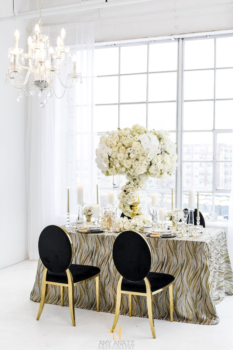Black and Gold Luxury Wedding Decor by Elle\'s Couture Events ...