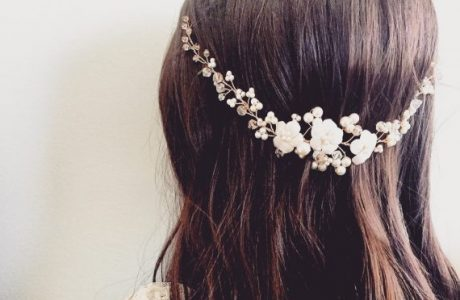 Bridal Hair Vine with Pearls — Handmade-a-Day