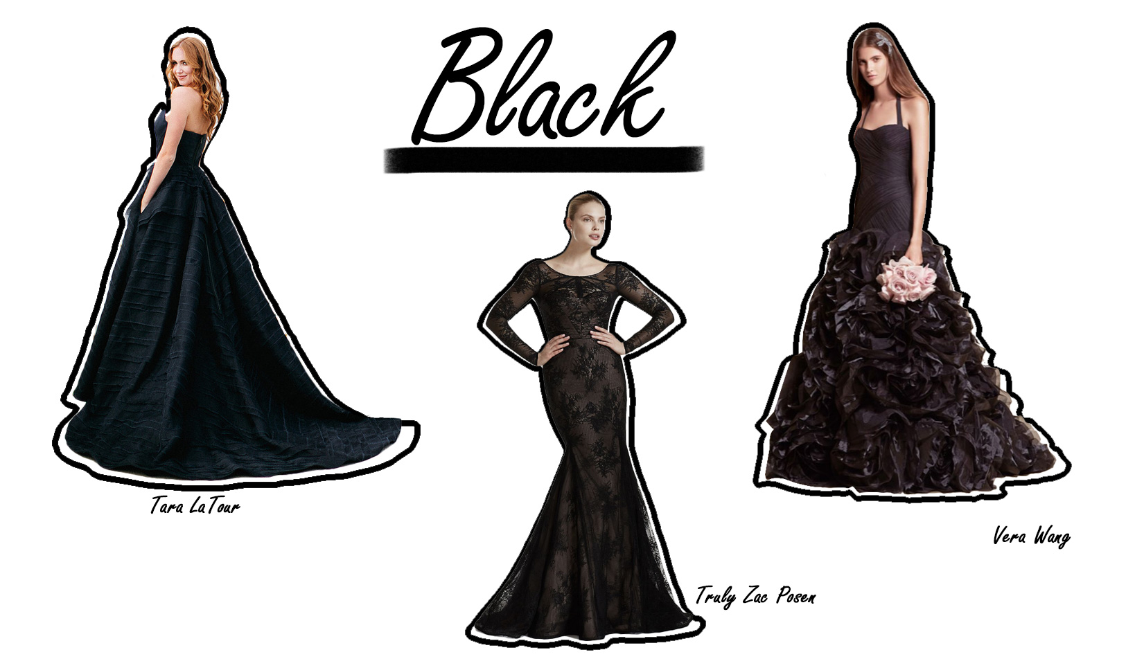 Colorful Wedding Dresses Black