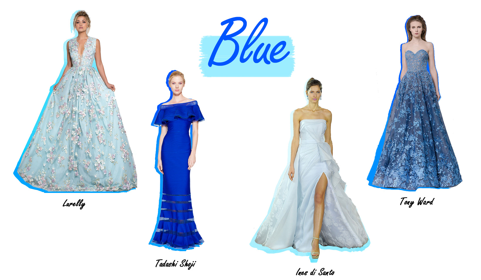 Colorful Wedding Dresses Blue