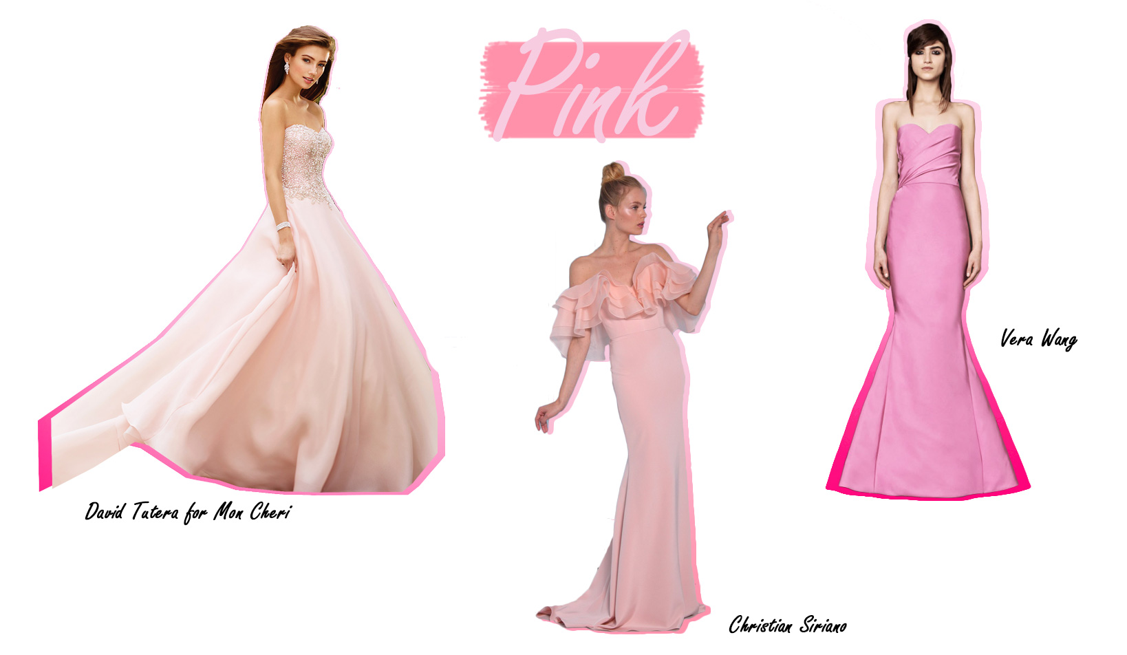 Colorful Wedding Dresses Pink