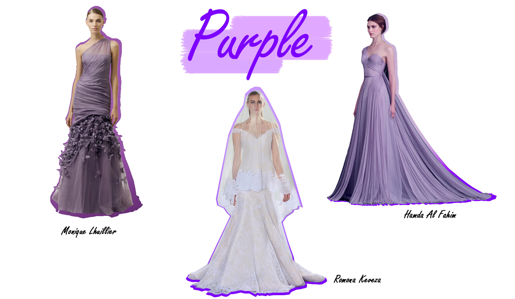 Colorful Wedding Dresses Purple