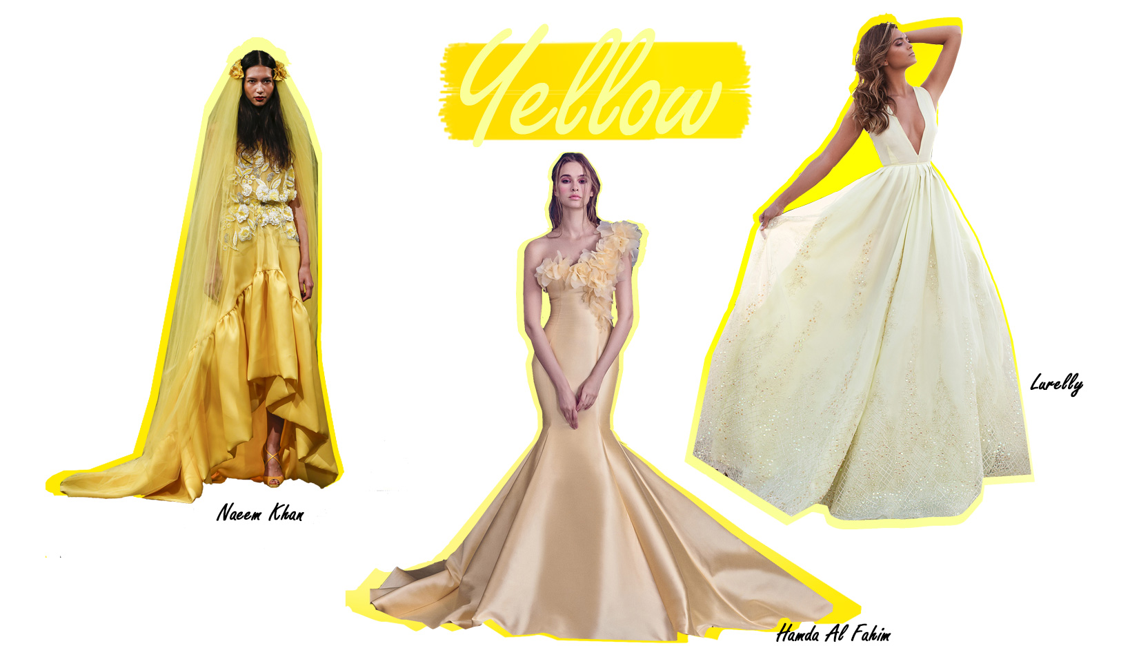 Colorful Wedding Dresses Yellow