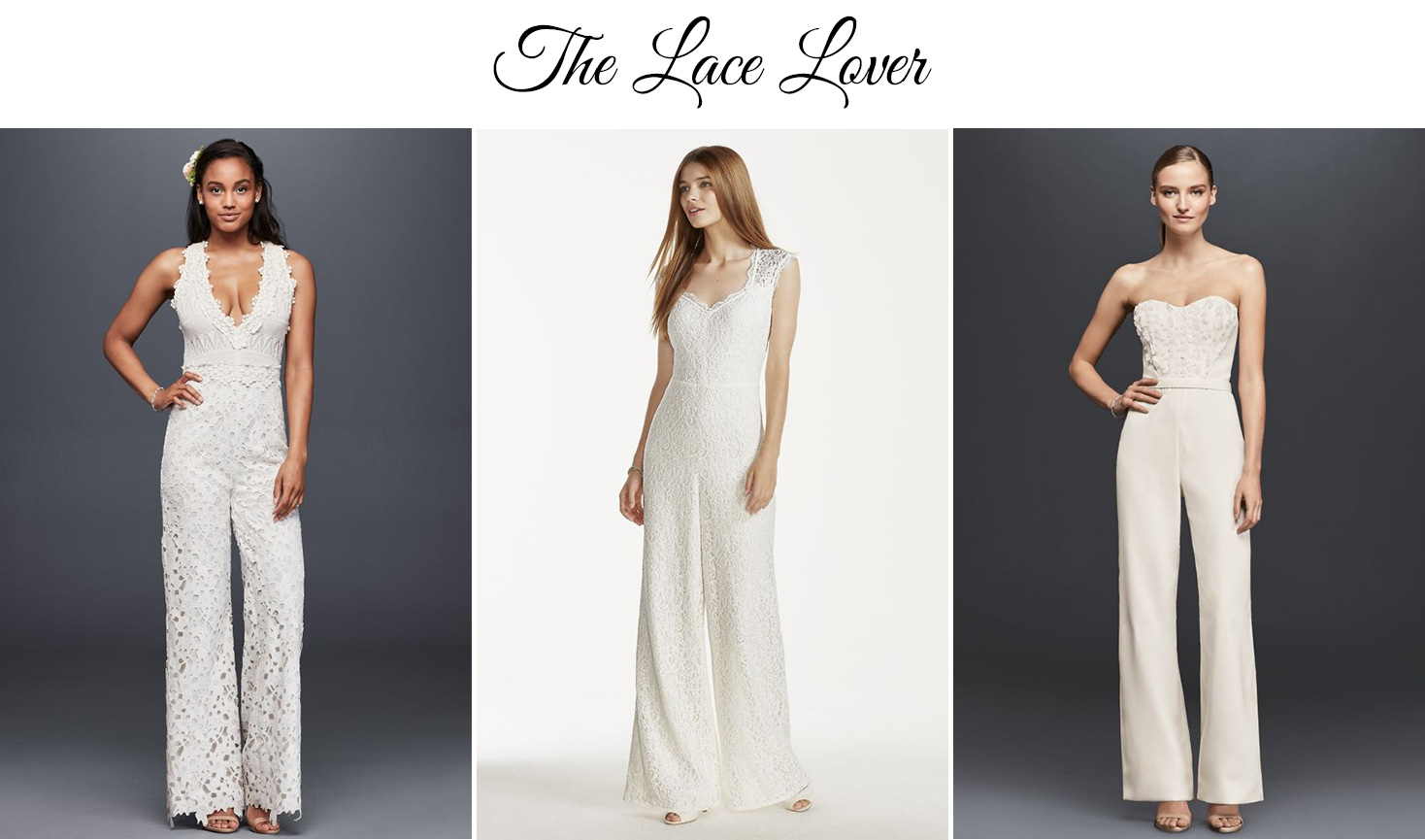 Lace Wedding Jumpsuit