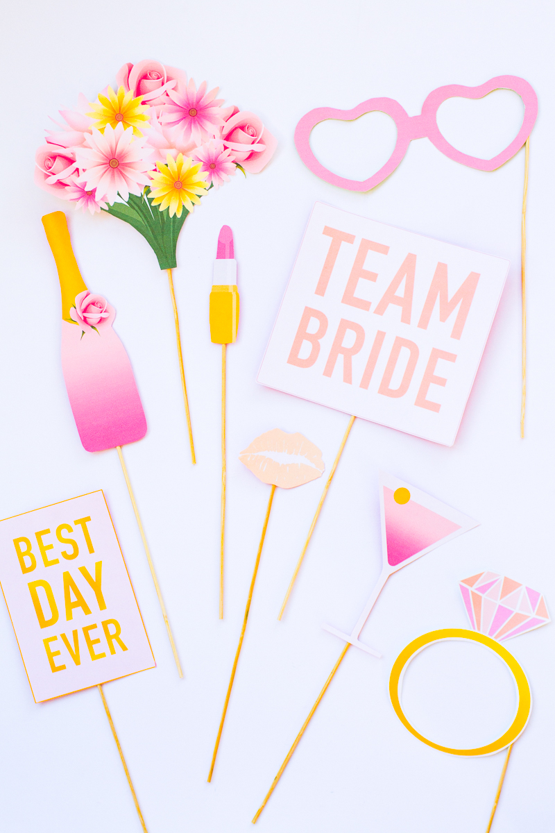 PRINTABLE BRIDAL SHOWER & HEN PARTY PHOTO BOOTH PROPS - BridalPulse
