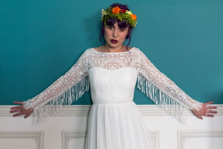 Colourful & Quirky Wedding Dresses For Non-Traditional Brides: Lucy ...