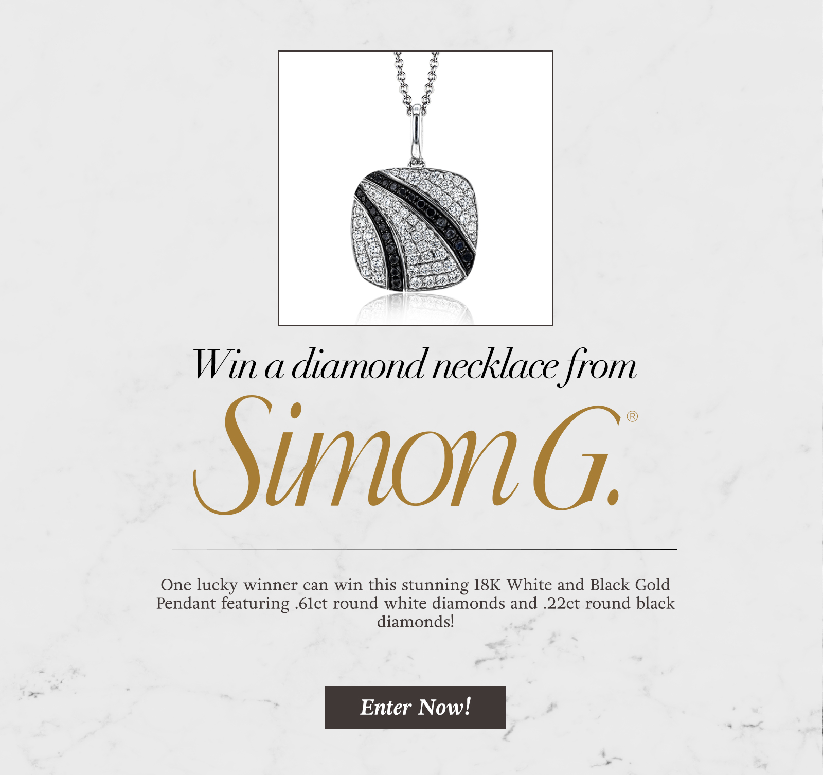 Simon G Diamond Necklace Giveaway