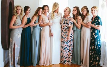 BridalPulse- Groundbreaking Floral Bridesmaids Dresses to Wear This Wedding Season and Beyond | Photograph By: Stoffer Photography| Follow @BridalPulse for more Wedding Inspiration!