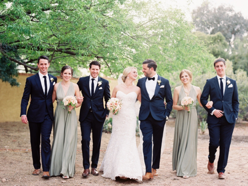 BridalPulse: From One Bride-to-Be to the Next: What to Do If You Have An Uneven Bridal Party | Photo: Brushfire Photography | Follow us @bridalpulse for more wedding inspiration!