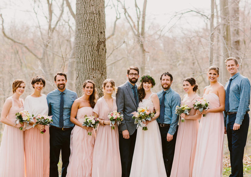BridalPulse: From One Bride-to-Be to the Next: What to Do If You Have An Uneven Bridal Party | Photo By: Redfield Photography | Follow us @bridalpulse for more wedding inspiration!