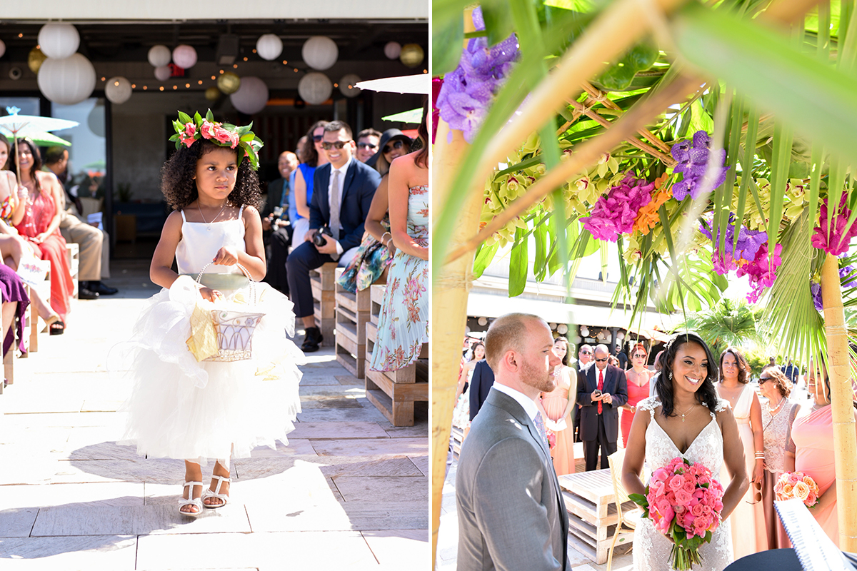 BridalPulse: This Real Wedding Was the Tropical Garden Party of Our Dreams | Photo By: George Street Photography | Follow @bridalpulse for more wedding inspiration!