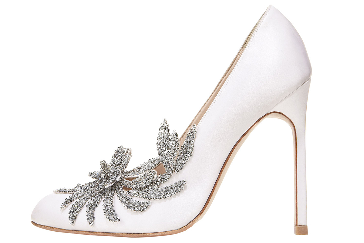 Bridal Pulse: 10 Bridal Shoes to Wear Down the Aisle | Photo via: Neiman Marcus | Follow @bridalpulse for more wedding inspiration!