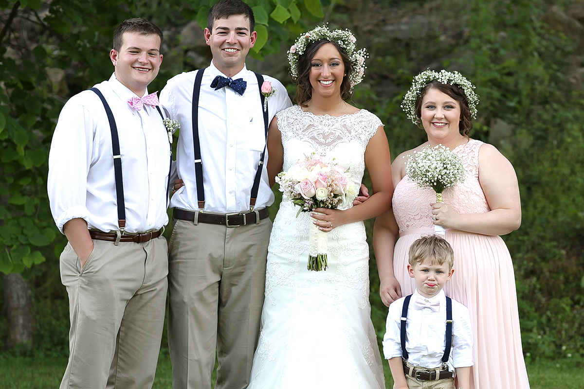 BridalPulse: This Couple Celebrated Their Real Wedding on The Bride's Family-Owned Farm | Photo By: Samantha Coleman Photography | Follow @bridalpulse for more wedding inspiration!