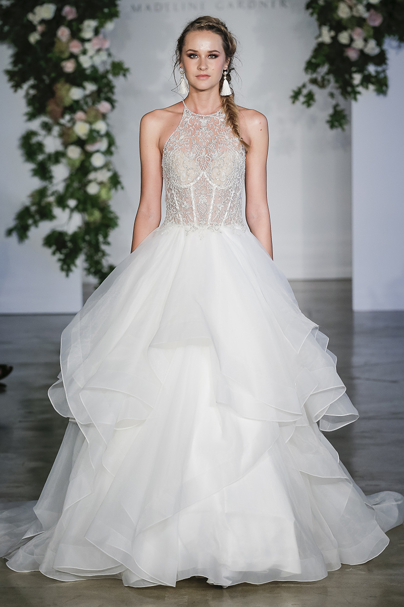 BridalPulse: The 5 Biggest Trends From Bridal Fashion Week Fall 2018 | Photo: Morilee by Madeline Gardner | Follow @bridalpulse for more wedding inspiration!