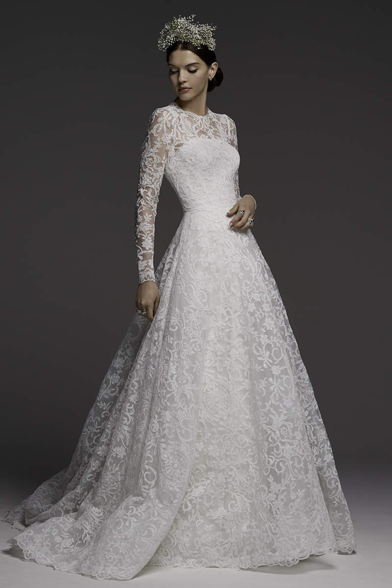 BridalPulse: Grace Kelly's Wedding Dress Inspired Watters' Fall 2018 Collection | Photo: Watters | Follow @bridalpulse for more wedding inspiration!