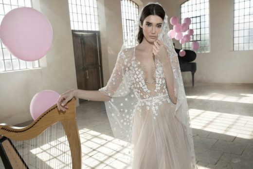 sheer wedding gowns