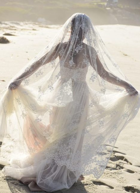 carmel beach wedding veil