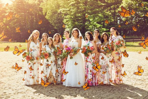 Michelle Garside's camp wedding