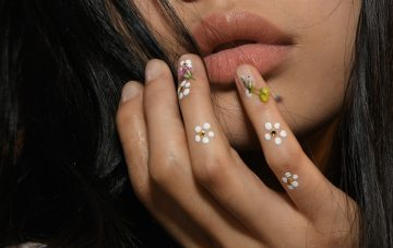 floral nails at rodarte
